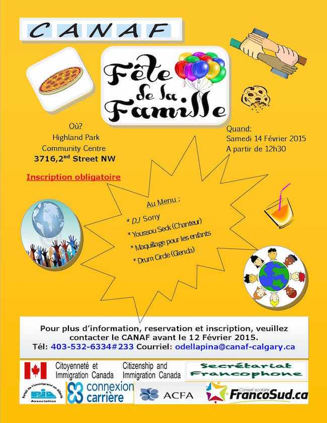 Flyer Fête de la Famille 2015